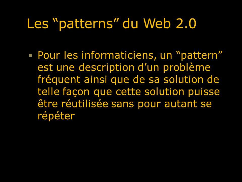 Les patterns du Web 2.0