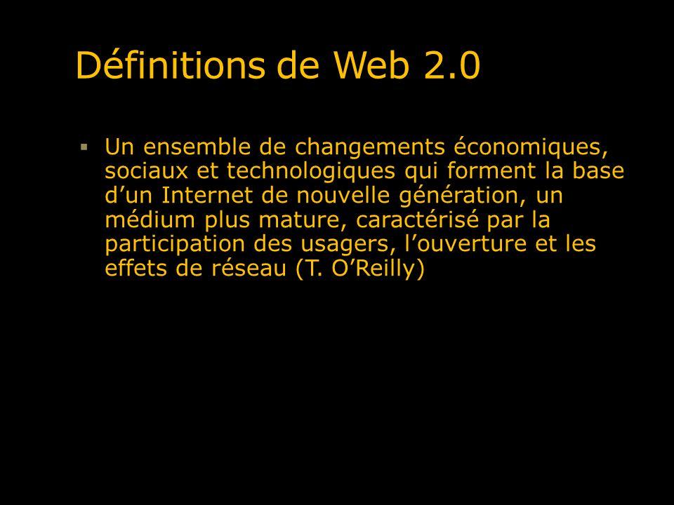 Définitions de Web 2.0