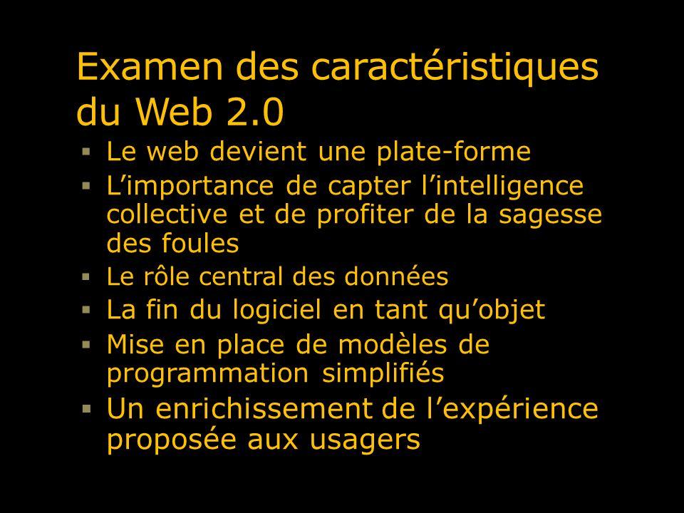 Examen des caractéristiques du Web 2.0