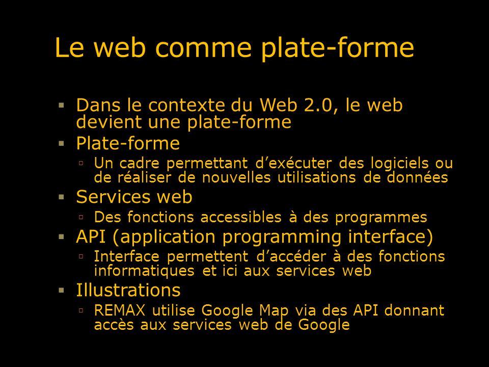 Le web comme plate-forme