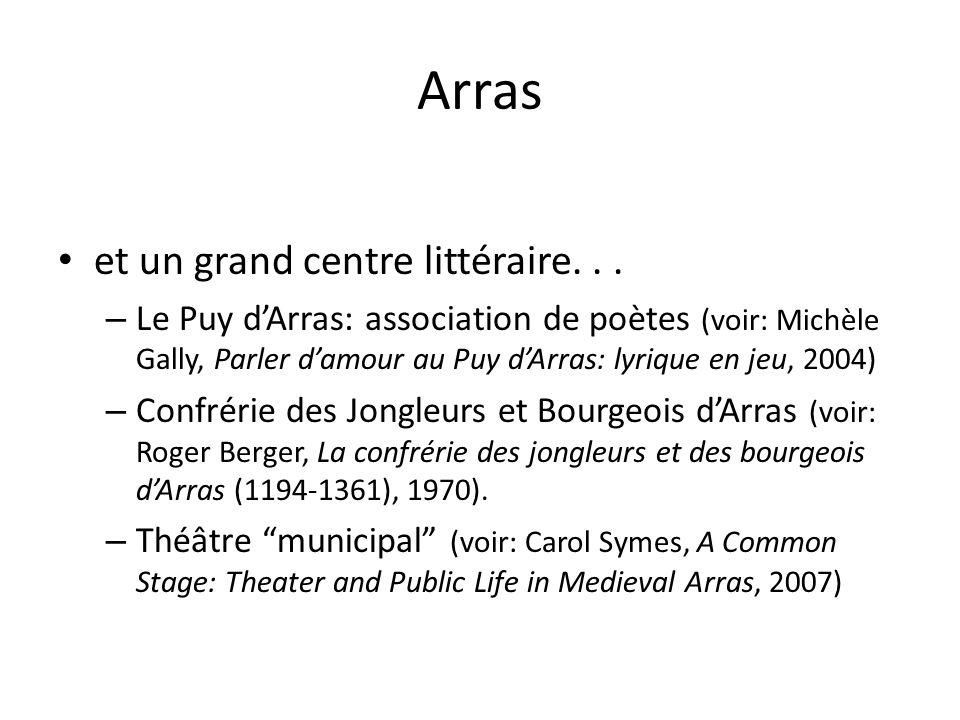 Arras et un grand centre littéraire. . .
