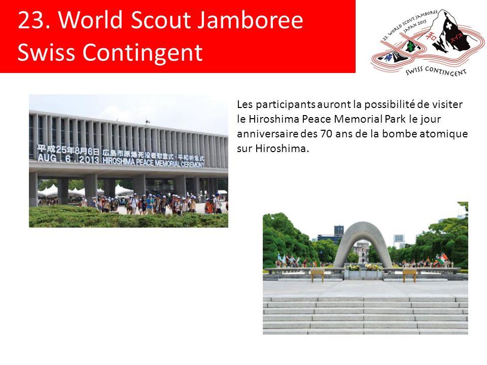 Les participants auront la possibilité de visiter le Hiroshima Peace Memorial Park le jour anniversaire des 70 ans de la bombe atomique sur Hiroshima.