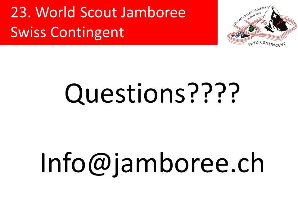 Questions Info@jamboree.ch