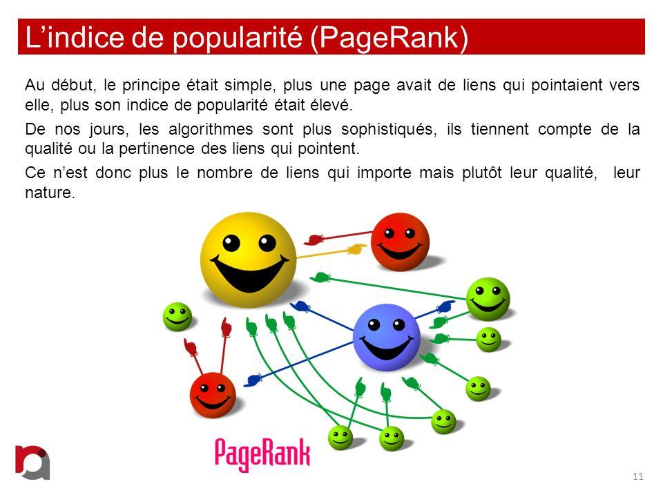 L'indice de popularité (PageRank)