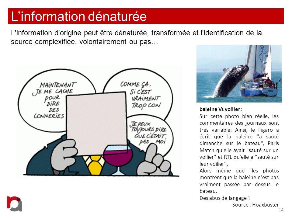 L'information dénaturée