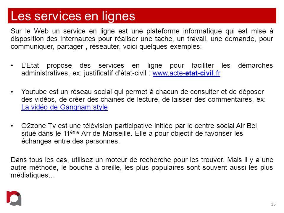 Les services en lignes