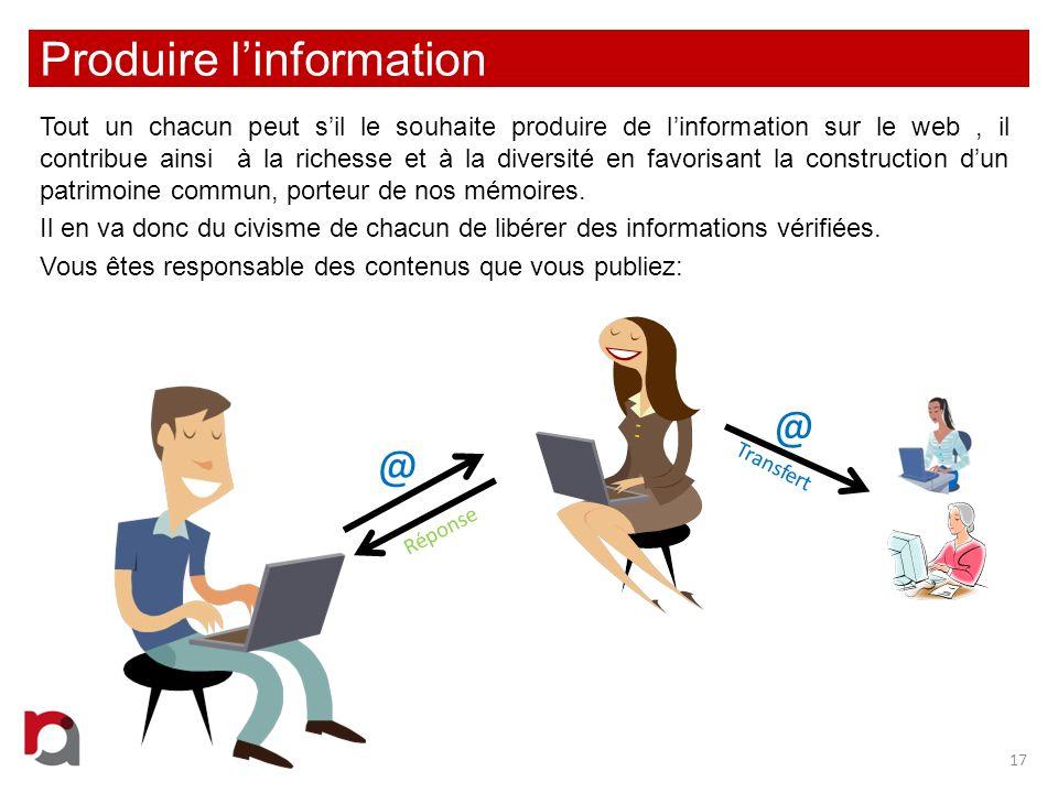 Produire l'information