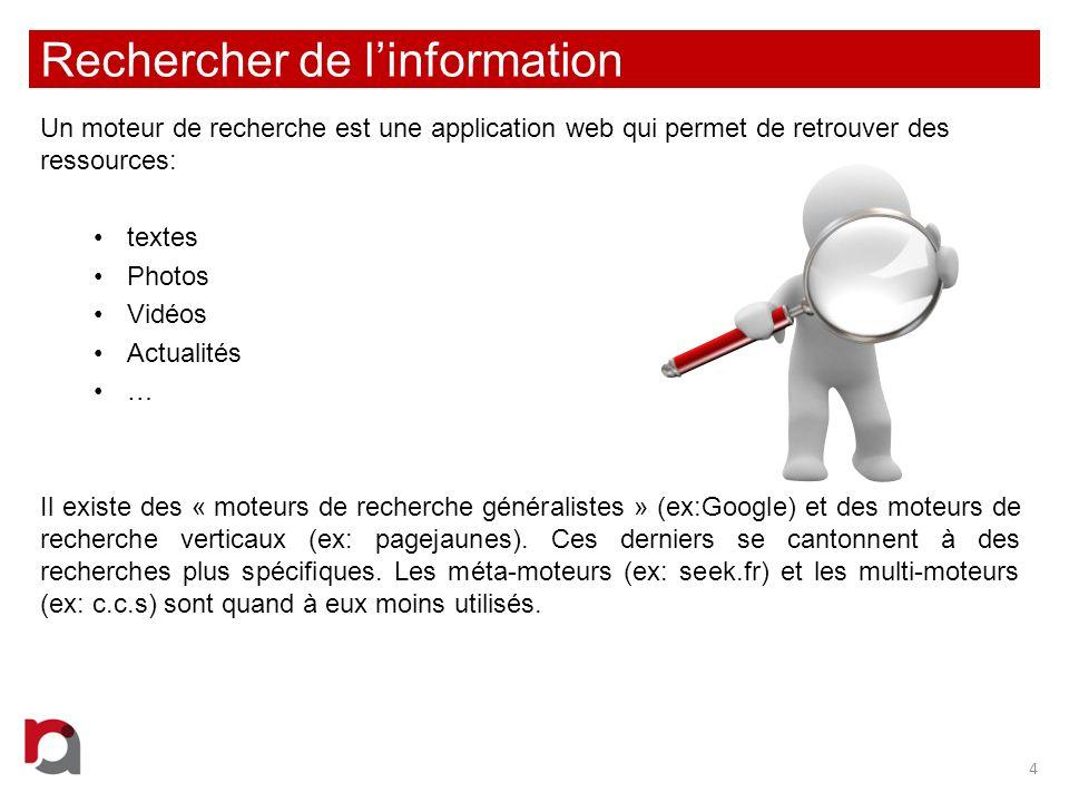 Rechercher de l'information