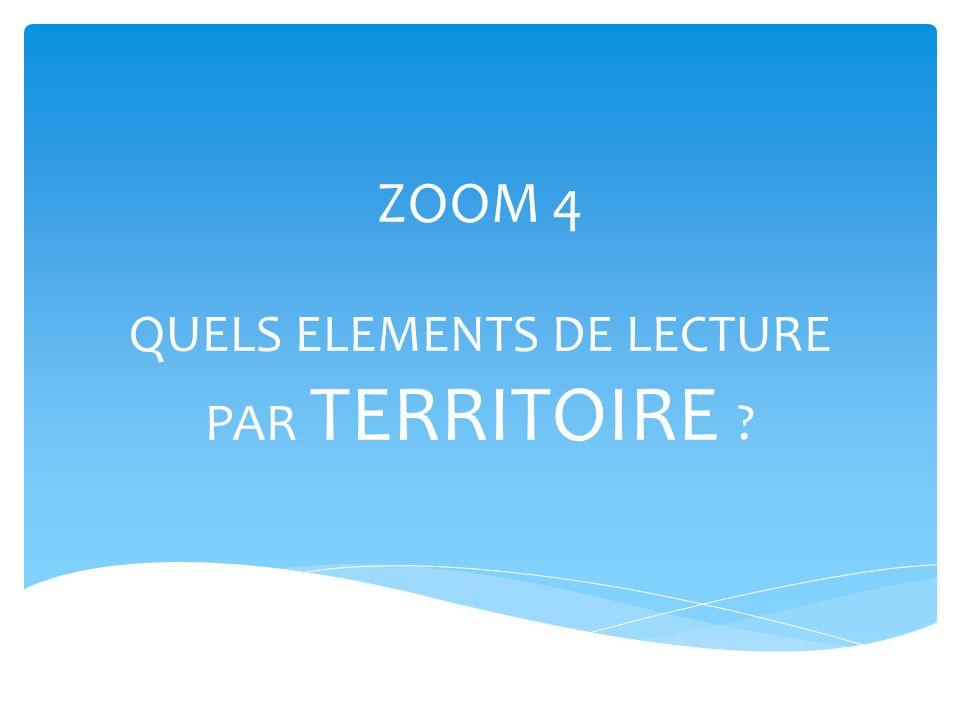 ZOOM 4 QUELS ELEMENTS DE LECTURE PAR TERRITOIRE