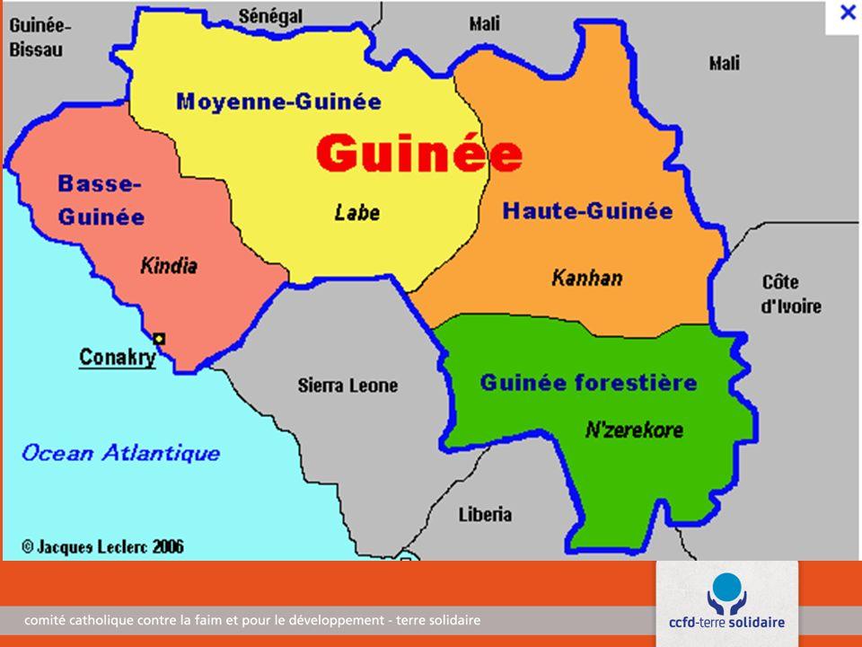 La Guinée, en forme longue la République de Guinée, aussi appelée « Guinée-Conakry » du nom de sa capitale pour la différencier de la Guinée-Bissau et de la Guinée équatoriale, est un pays d'Afrique de l Ouest.