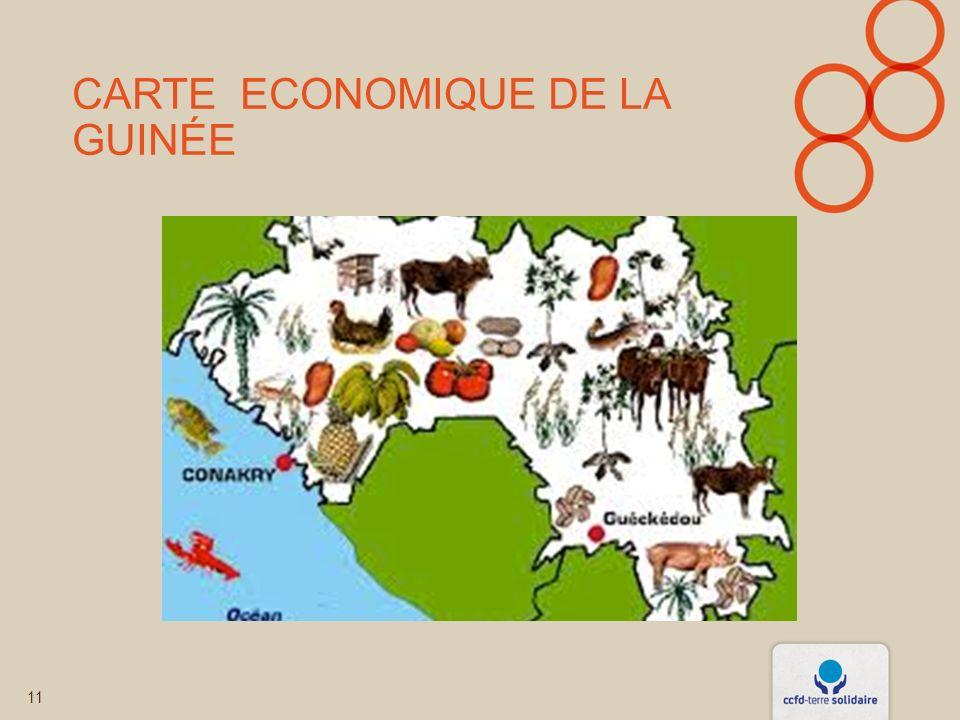 Carte Economique de la Guinée