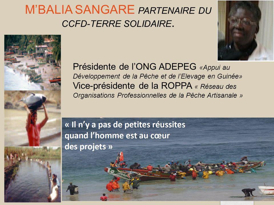 M'Balia SANGARE Partenaire du CCFD-Terre Solidaire.