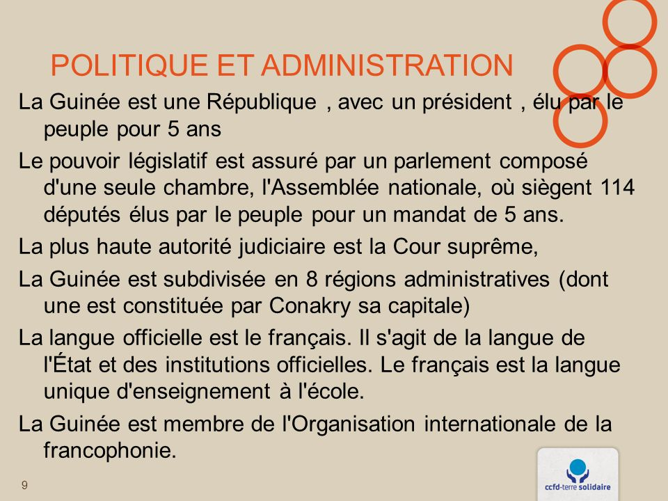 Politique et administration