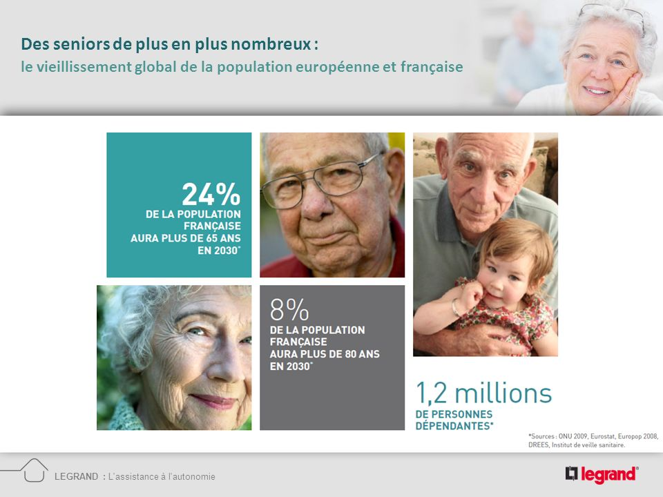 Des seniors de plus en plus nombreux : le vieillissement global de la population européenne et française