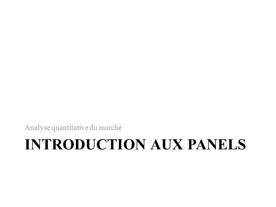 Introduction aux panels
