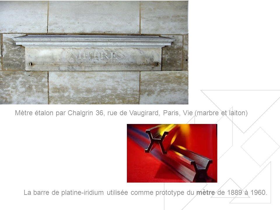 Mètre étalon par Chalgrin 36, rue de Vaugirard, Paris, Vie (marbre et laiton)