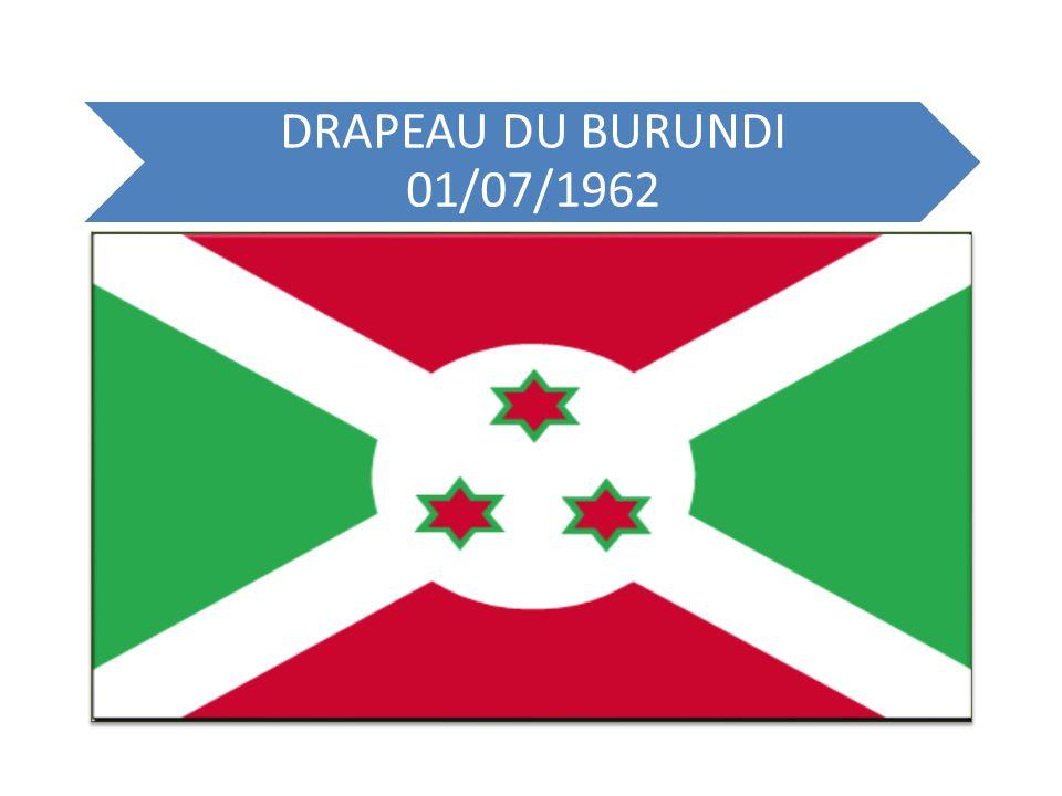 DRAPEAU DU BURUNDI 01/07/1962