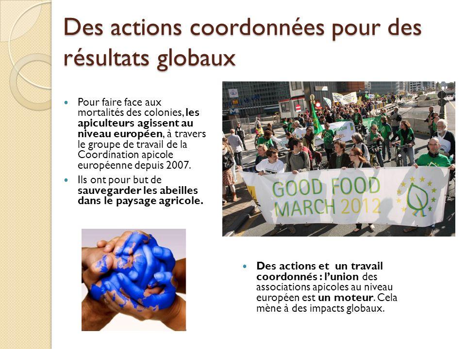 Des actions coordonnées pour des résultats globaux