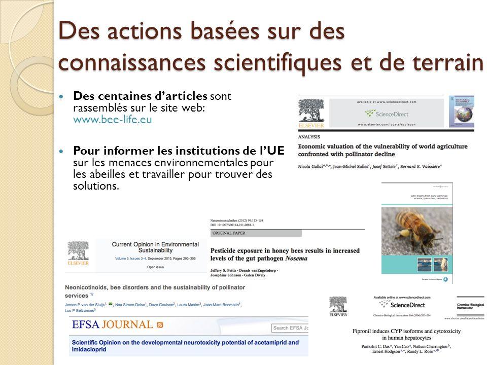 Des actions basées sur des connaissances scientifiques et de terrain