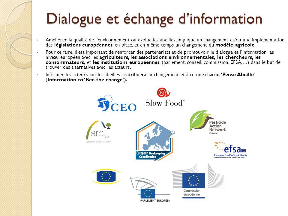Dialogue et échange d'information