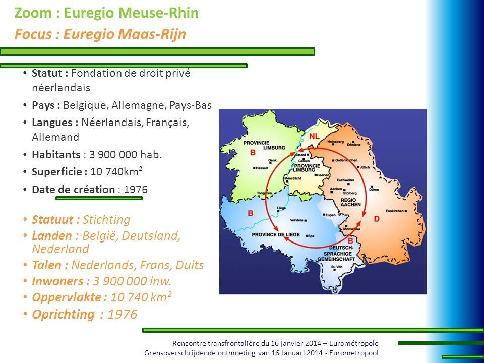 Zoom : Euregio Meuse-Rhin Focus : Euregio Maas-Rijn