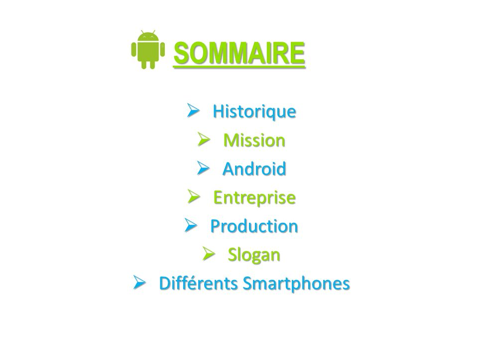 Différents Smartphones