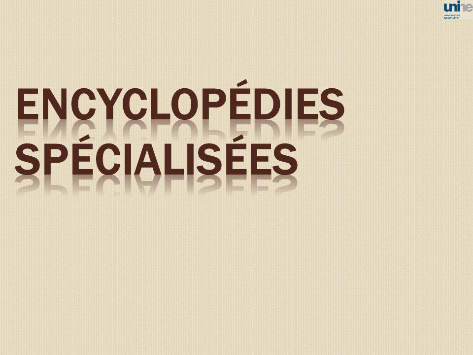 Encyclopédies spécialisées