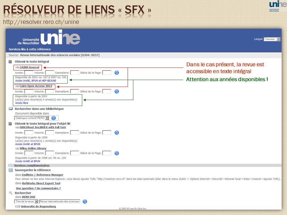 RéSOLVEUR DE LIENS « SFX »