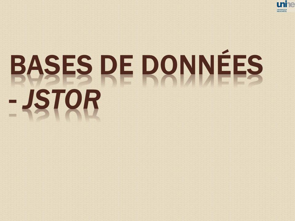 BASES DE DONNéES - JSTOR 49
