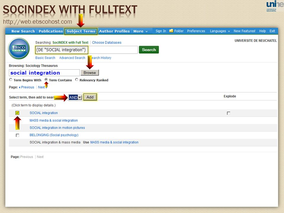 SOCINDEX WITH FULLTEXT