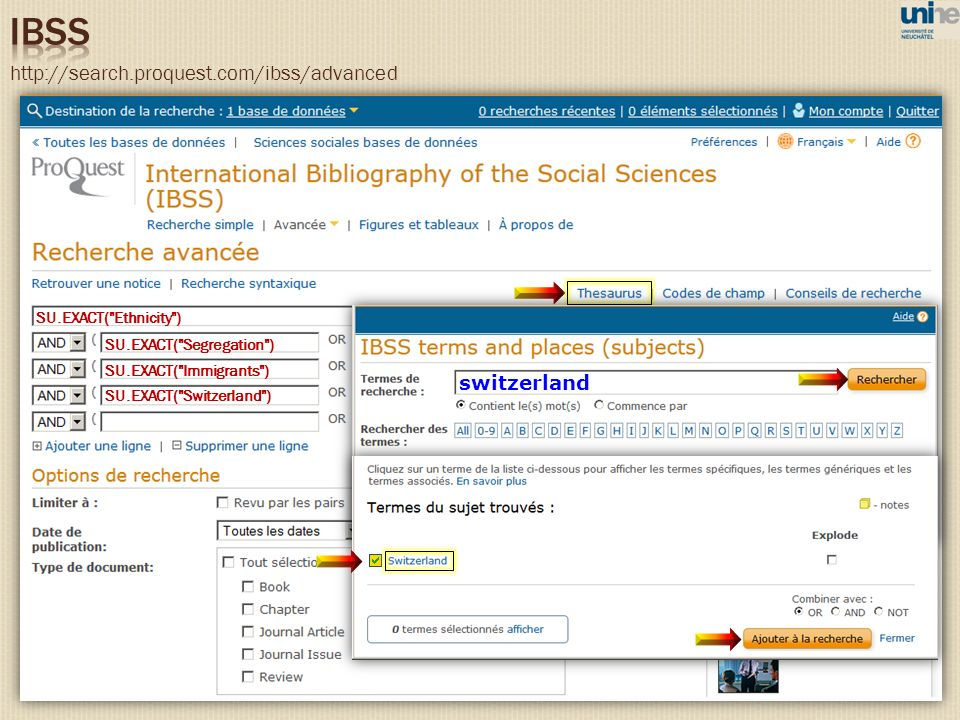 IBSS http://search.proquest.com/ibss/advanced switzerland