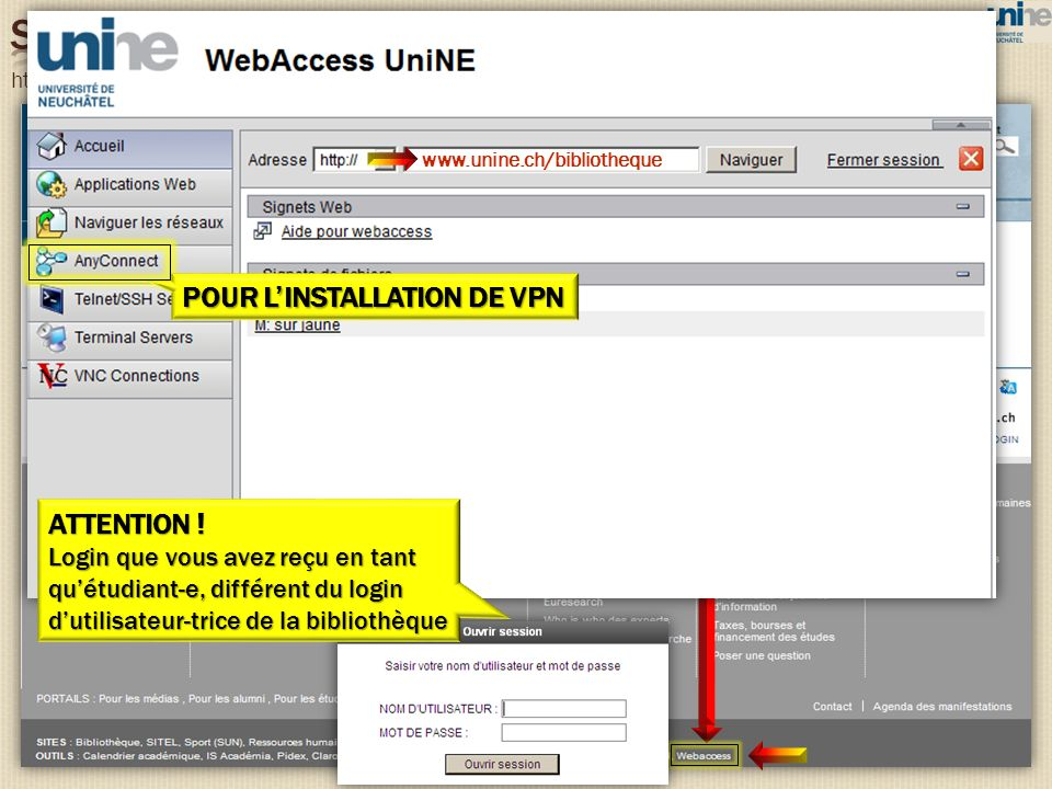 SITE DE L'UNINE POUR L'INSTALLATION DE VPN ATTENTION !
