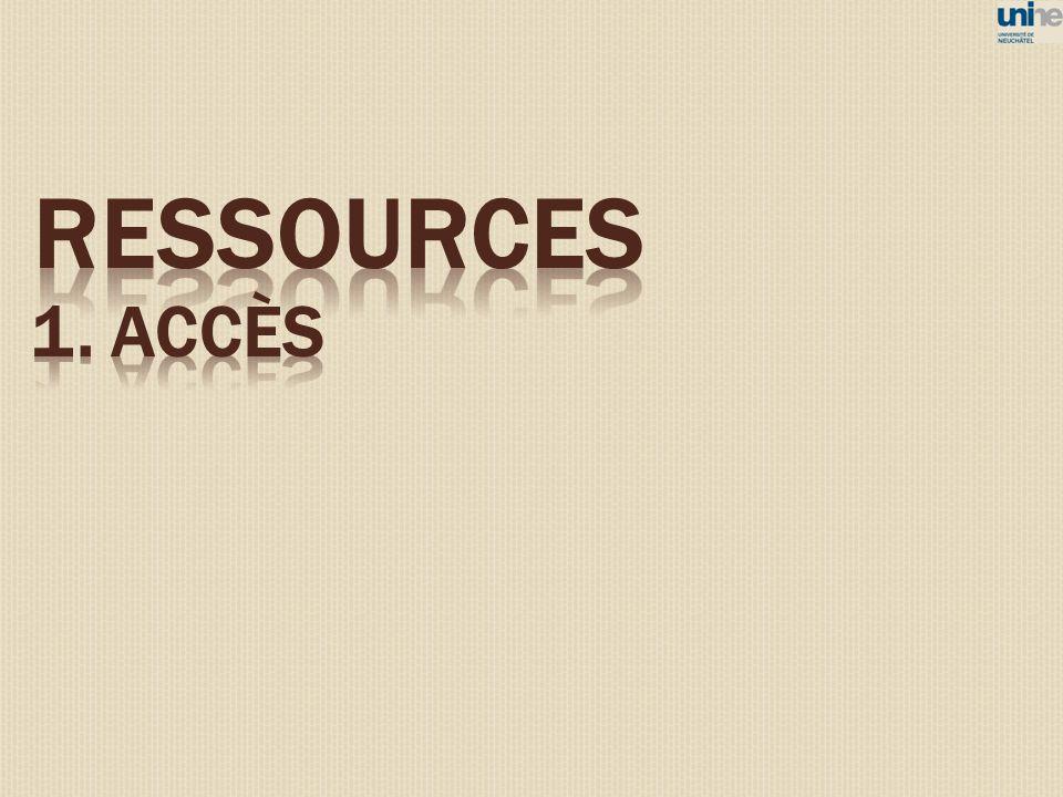 ressources 1. ACCÈS 8