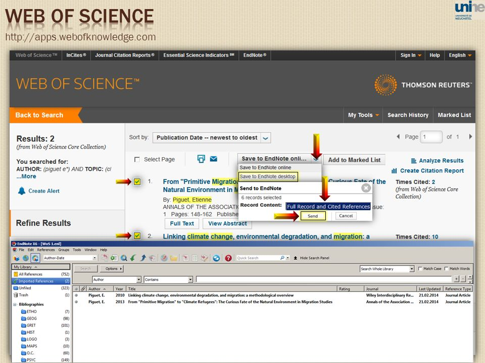 WEB OF SCIENCE http://apps.webofknowledge.com 81