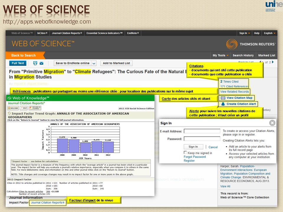 WEB OF SCIENCE http://apps.webofknowledge.com 83 Citations