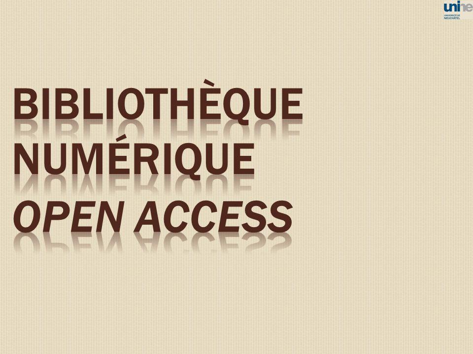 BIBLIOTHÈQUE NUMÉRIQUE open access 86