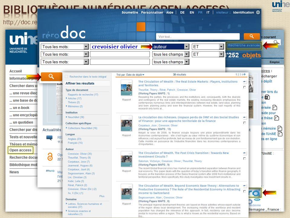 bibliothèque numérique (open access)