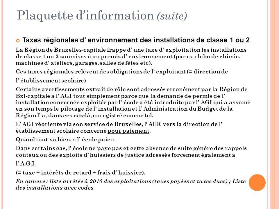 Plaquette d'information (suite)