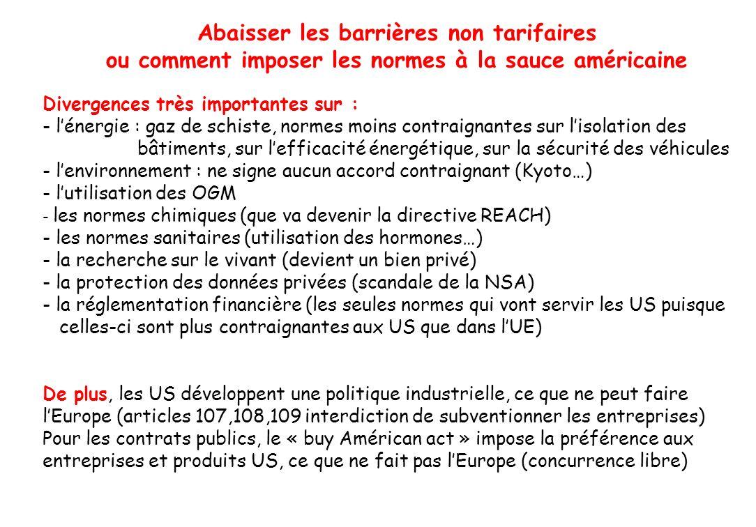 Abaisser les barrières non tarifaires
