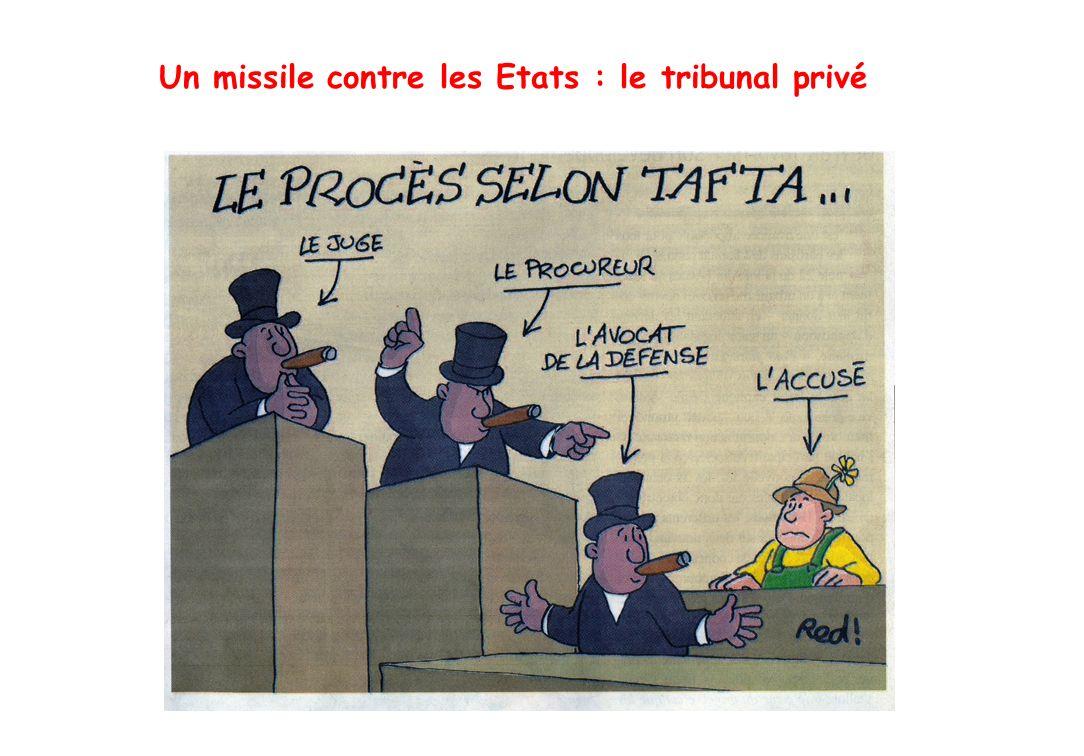 Un missile contre les Etats : le tribunal privé