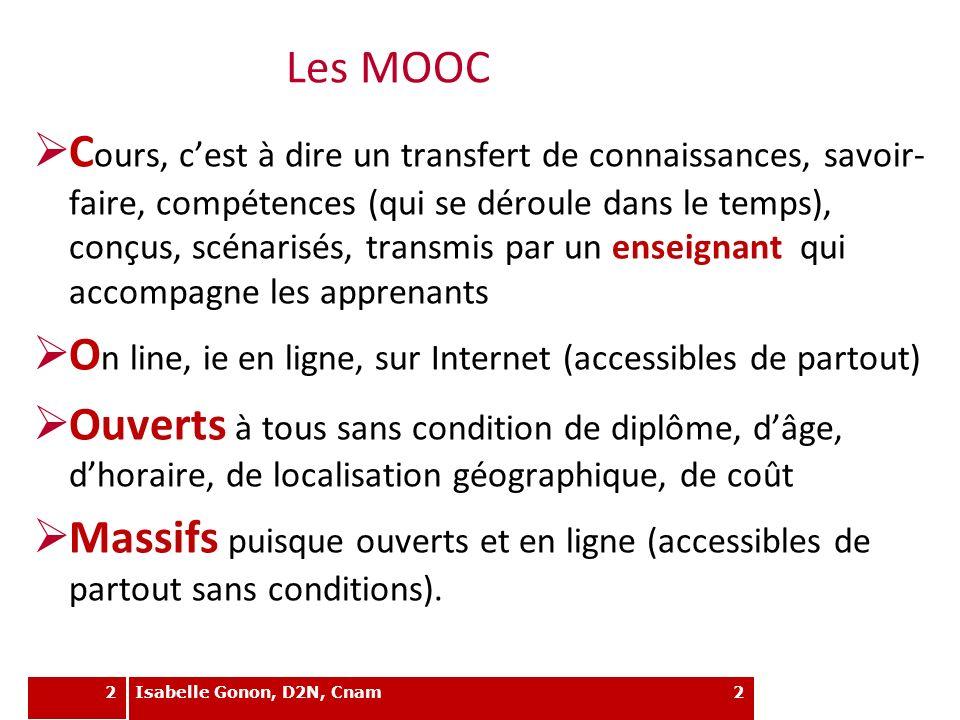 FOD vs MOOC Contraintes (et durée) Contenu et ressources