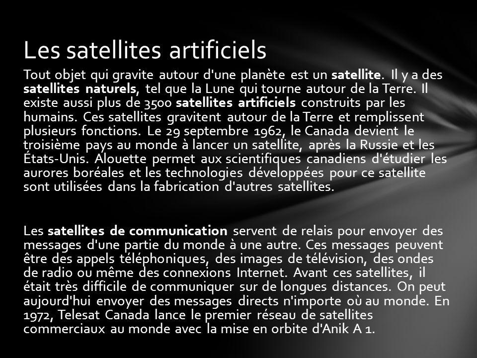 Les satellites artificiels