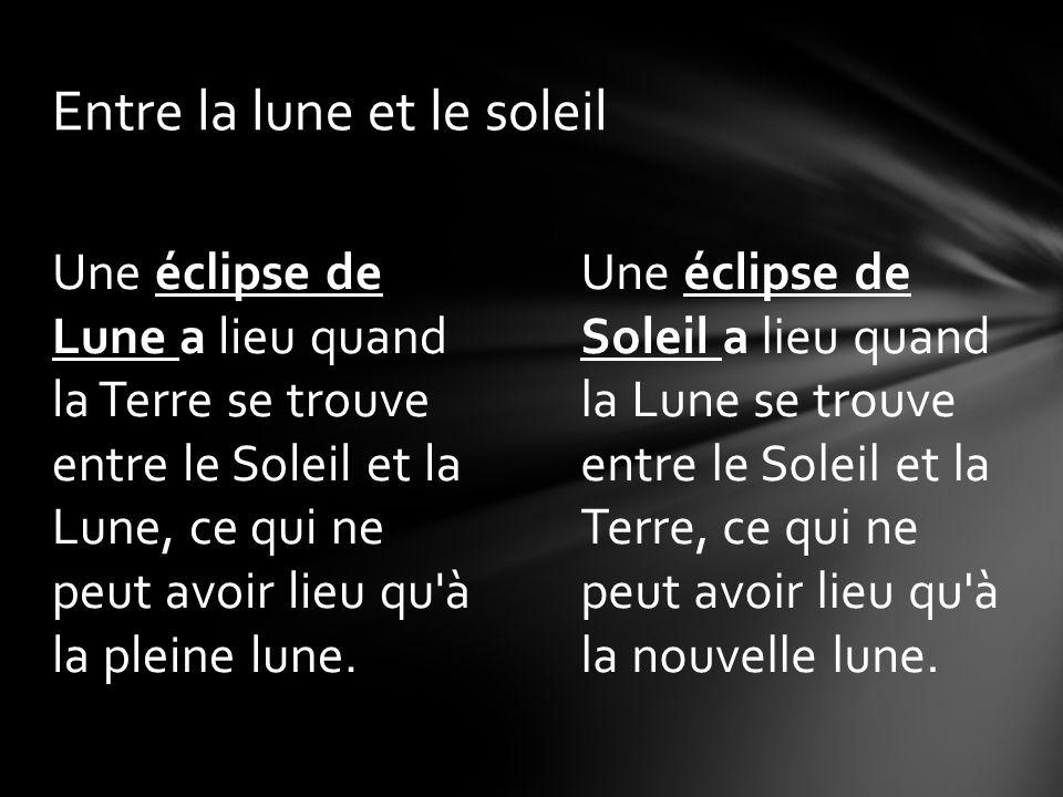 Entre la lune et le soleil