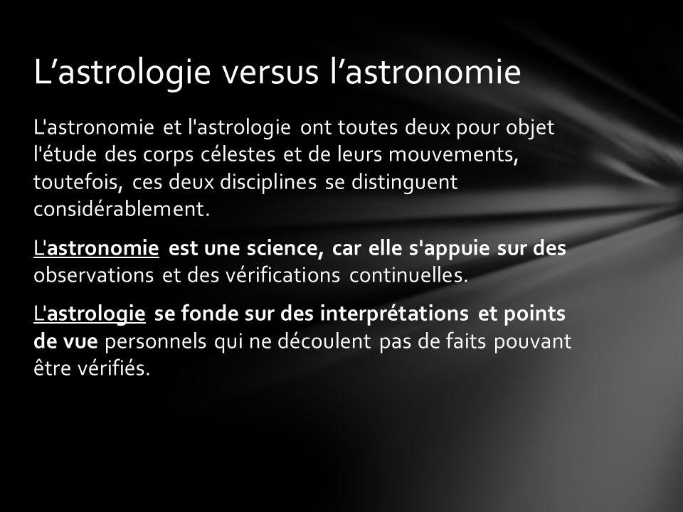 L'astrologie versus l'astronomie