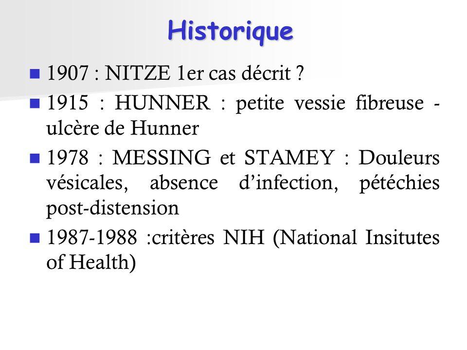 Historique 1907 : NITZE 1er cas décrit