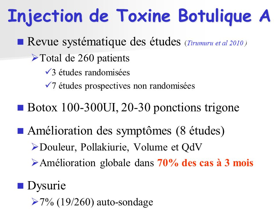 Injection de Toxine Botulique A