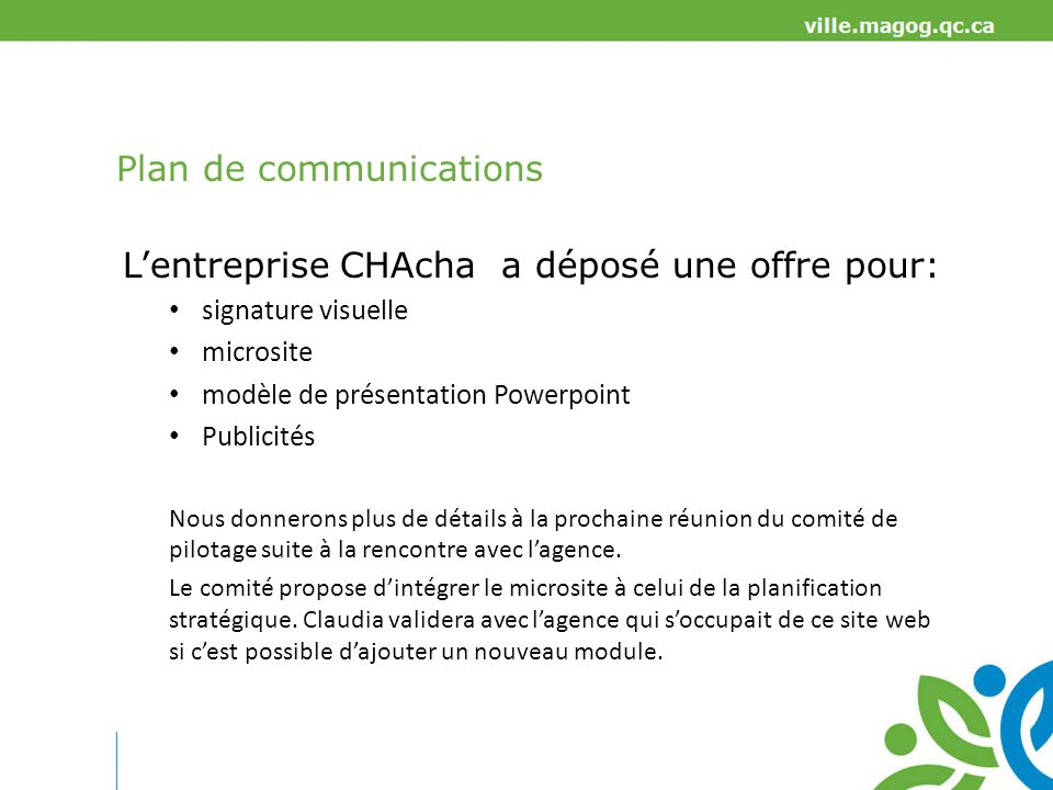 Plan de communications