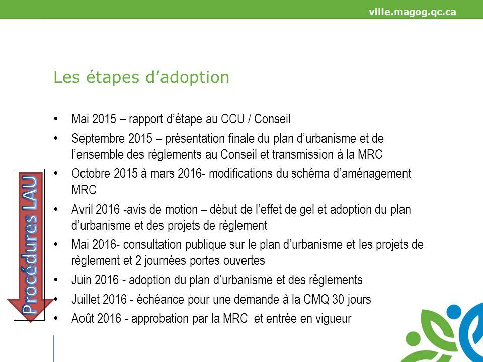 Procédures LAU Les étapes d'adoption