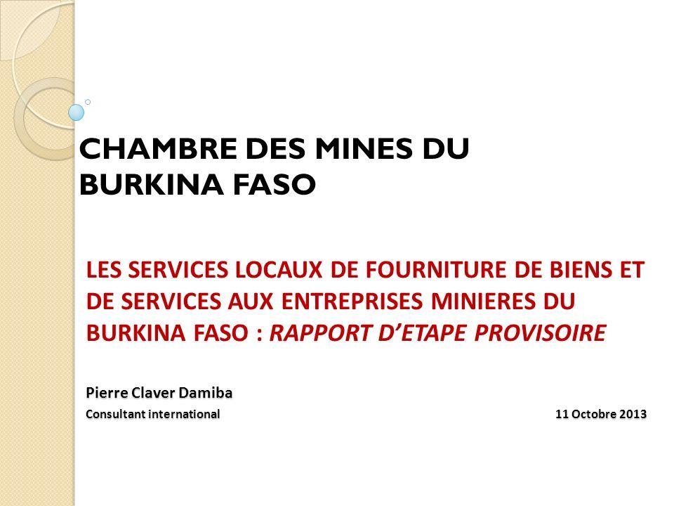 CHAMBRE DES MINES DU BURKINA FASO