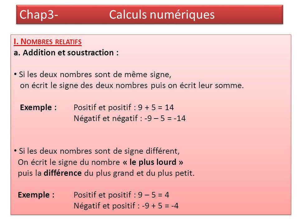 Chap3- Calculs numériques